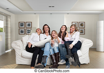 Family girls fun