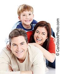 family., glücklich