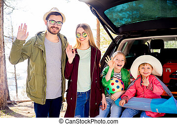 Family going on vacation - Happy family is going on vacation...