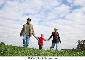 family., grass., cloud.