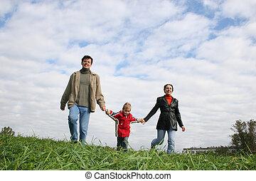 family., grass., cloud.