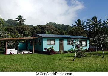 Family grave in Rarotonga Cook Islands - RAROTONGA - SEP...