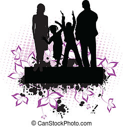 family -grunge background