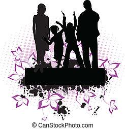 family -grunge background