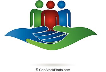 Family hands care - People of family with hands care (...