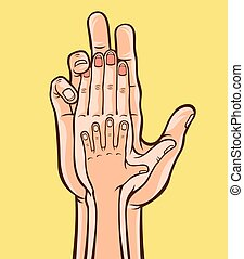 Family hands. Vector illustration