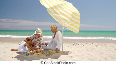 Family Having Great Time on The Beach