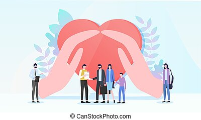 Family Health Care Insurance Flat Vector Concept