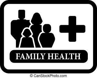 family health icon - black family health icon for family...