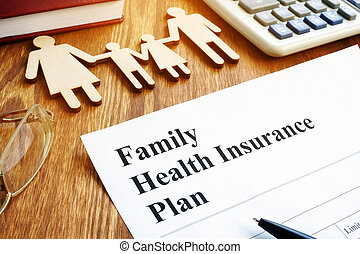 Family Health Insurance Plan in an office.