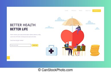 Family Health Insurance Policy Sign Landing Page