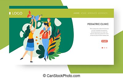 Family health, pediatric clinic landing web page - Pediatric...