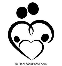 Family heart symbol