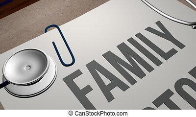 Family history healthcare concept shot clip