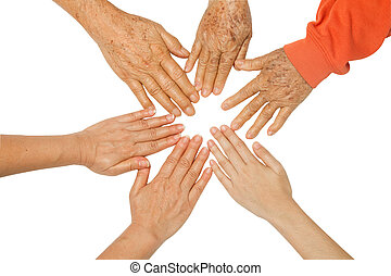 Family holding hands together, concept The bond between ...