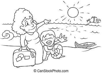 Family Holiday Illustrations And Clipart 55912