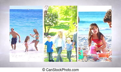 Family holidays montage