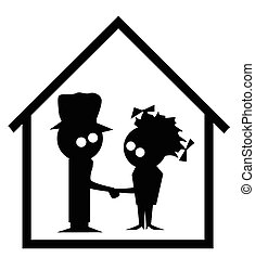Family Home Cartoon