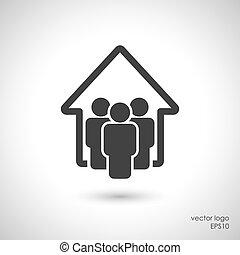 Family home concept icon