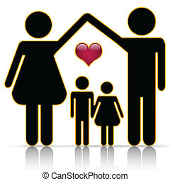 Family home - Illustration of the family as the foundation ...