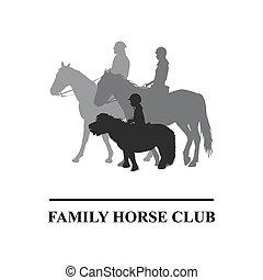 Family horse club emblem