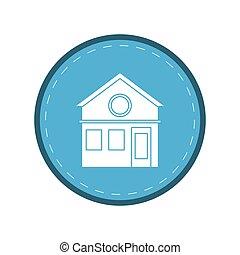 family house facade residential design  circle