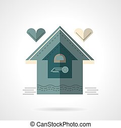 Family house flat vector icon