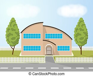 Family house illustration.