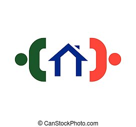 Family Icon Design With Home