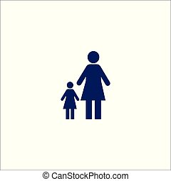 Family icon isolated sign symbol.