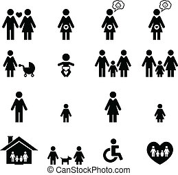 Family Icon set for your design