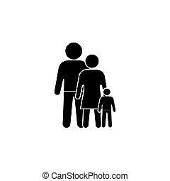 family Icon. vector illustration black on white background