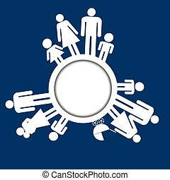Family icons pictograms