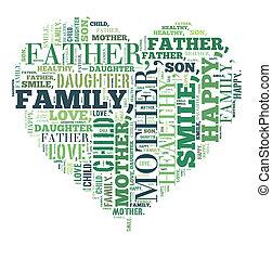 Family illustration concept