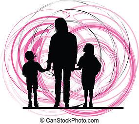 family., illustration, vecteur