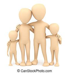 family., image., 3d