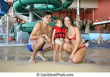 family in aquapark