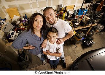 Family in Garage