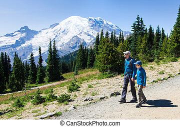 family in mount rainier national park