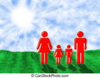 Family in the sun