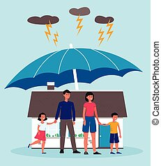 Family insurance, protection of real estate, home and property.