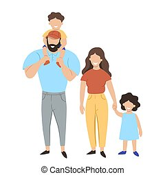 Family isolated on a white background. Vector graphics