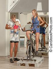 Family Jim baby Cycling