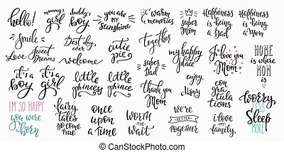 Family Lettering photography overlay set - Lettering...