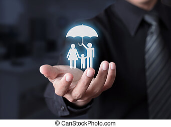 Family life insurance concept