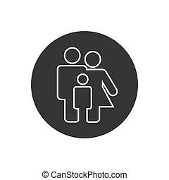 Family Line Icon Set Vector. design modern flat style