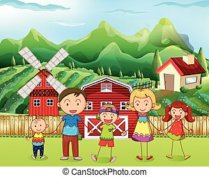 Family living in the farm