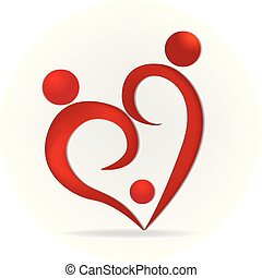 Family love heart logo