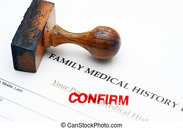 Family medical history - confirm