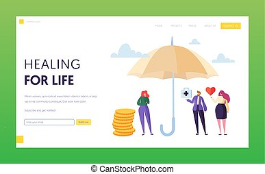 Family Medical Life Insurance Landing Page Concept
